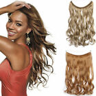 """16""""-24"""" Long Halo Body Wave Human Remy Secret Invisible Wire Hair Extension 120g"""
