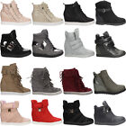 Women's Ladies Sneakers High Top Trainers Ankle Boots Shoes Sizes NEW