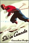 Ski In Canada 1937 Canadian Pacific Vintage Poster Print Winter Sports Travel