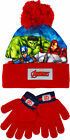 Marvel Avengers Hat And Gloves Winter Set Boys Ages 2 - 6 Years