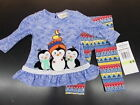 Infant Girls Rare Editions 2pc Winter Penguin Set Size 6/9 Months - 24 Months