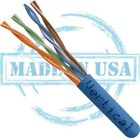 PLENUM BULK Cat6 BARE COPPER Cable  Solid 24AWG  200,300,400,500FT