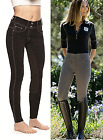 Goode Rider Vogue Denim Jean Full Seat Horse & Equestrian Riding Breeches Pants