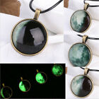 glowing jewelry - Creative Luminous Moon Necklace Round Pendant Glow In The Dark Jewelry Gifts