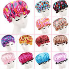 IK- Women Waterproof Dot Flower Hair Cover Elastic Bath Bathing Shower Cap Eyefu