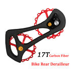 17T Carbon Fiber Road Bike Rear Derailleur Pulleys Jockey Wheel Set for Shimano