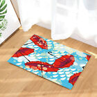 """Beautiful Red Paper Umbrella Bathroom Fabric Shower Curtain 71X71"""" With Hooks"""