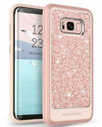 Case For Samsung Galaxy S8 Plus Dual Layer Glitter Hard PC Sparkly Shiny Cover