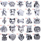 2pcs Big Hole Silver Spacer for 925 European Beads Charms Bracelet Jewelry