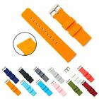 rubber strap - NEW Silicone Watch Band Soft Rubber Watch Strap Stainless Steel Buckle18 20 22mm