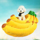 Small Dog Cat Bed Puppy Warm Cushion Banana House Kennel Mat Pad Blanket S M L
