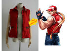 Tailor made The King of Fighters KOF TERRY BOGARD Red Vest Cosplay Costume