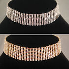 Gold/Silver classic 9 Row Choker/Necklace,bride,bridesmaid,prom,party SV16-SM09