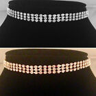 Gold/Silver classic 3 Row Choker/Necklace,bride,bridesmaid,prom,party SV16-SM03