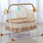 Big Space Electric Baby Crib Cradle Infant Rocker Auto-Swing Bed Baby Cradle+Mat