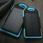 New 2 USB Mobile Phone Solar Power Bank Panel Pack LED torch Battery Charger UK