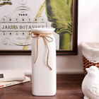 Ceramic Flower Vase Home Decor Ornament Cylinder Tube Embossed Glazed Bottle New