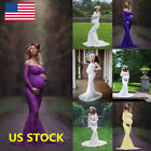 Pregnant Women Lace Long Maxi Dress Maternity Gown Photography Photo Props Dress