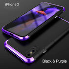 3In1 Metal Bumper Frame+Hard PC Shell Shockproof Case cover for iPhoneX 7 8 Plus