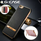 G-CASE iPhone X 8 7 Plus Thin Case Shockproof Leather Kickstand Cover For Apple