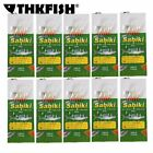 10Packs (60pcs) #13~#20 Fishing Sabiki Rigs Fish Skin Baits Rigs Fishing Lures