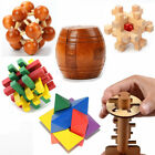 Removable Wooden Building Blocks Cube Puzzle Brain Educational Kids Toys Gifts