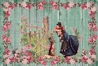 Victorian Girl, Doll, Rabbits, Flowers, Easter ~ Cross Stitch Pattern