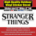 Stranger Things TV series Vinyl Bumper Window Decal Sticker In Several Colors
