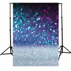 US 5x7ft Blue Flashing Glitter Photography Backdrop Wedding Party Photo Prop 3x5