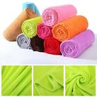 Super Soft Warm Solid  Micro Plush Fleece Blanket Throw Rug Sofa Bedding CA image