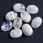 6X4MM Oval Shape, Blue Fire Rainbow Moonstone Calibrated Cabochons AG-204