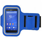 Universal Sports Armband Cell Phone Protector Cover Blue for Series Samsung Flip