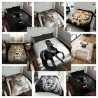 Dreamscene Animal Printed Faux Fur Mink Throw / Blanket Warm Fleece Bed Sofa