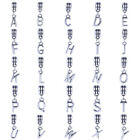 26 letters A to Z Charms European Beads fit 925 Silver Bracelets Chain Pendant