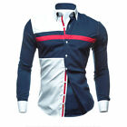 Tops Fashion Men's Luxury Long Sleeve Shirt Casual Slim Stylish Dress Shirts Q#