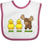 moose clothing - Inktastic Duck Duck Moose? Baby Bib Funny Moose Gift Clothing Infant