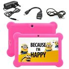 7'' kids Tablet PC With Free Keyboard Android 4.4 Quad Core WIFI Child Laptop UK