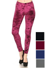 Womens Crushed Velvet Leggings