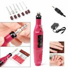 Best Electric Nail Art Tips Arcylic Drill File Machine Pen Shape & 6 Bits US/EU