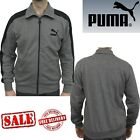 PUMA Mens LS Eagle Point Sports Slim Track Jackets Sweatshirts Jumpers Grey Tops