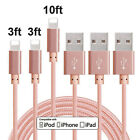 3/6/10FT Lightning USB Cable Cord Charger For Apple iPad 5 4 Air 1 2 Mini 4 3 2
