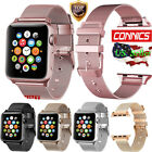 Apple Watch Buckle Strap Band 38/42/40/44mm Series 1~4 Stainless Steel Bracelet image