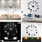 Modern DIY Large Wall Clock 3D Mirror Surface Sticker Home Decor Art Design HX