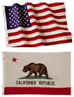 California State and American Flag Combination, Made In USA, All Sizes, You Pick
