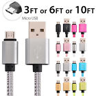 LOT- Nylon Braided Rope USB-C Type-C 3.1 Data Sync Charger Charging Cable Fast