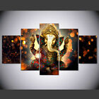 Elephant Trunk God Ganesha, 5Panel Canvas HD Prints Painting Wall Art Home Decor