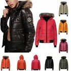 Ladies Bubble Padded Puffer Hooded Womens Jacket Coat Outerwear Faux Fur Top