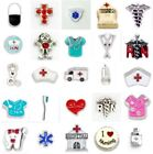 Floating Charms Medical Nurse Doctor Fit Origami Living Memory Glass Lockets