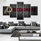 5 Panel Washington Redskins NFL Canvas HD Prints Painting Wall Art Home Decor