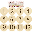 WEDDING TABLE NUMBER CARDS WHITE AND IVORY 12.7CM 1-12 PACK